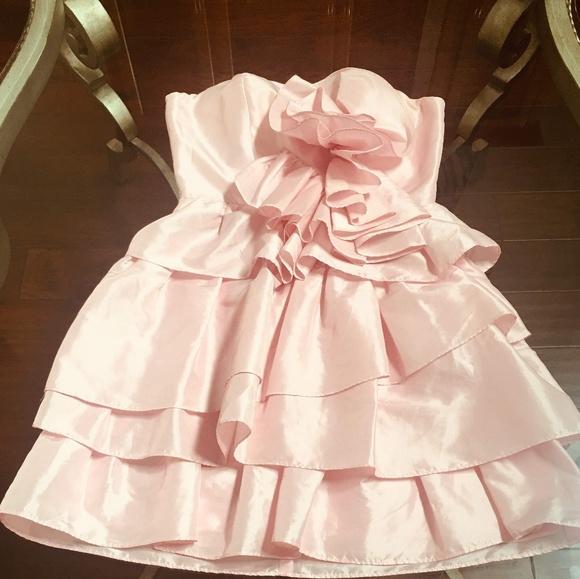 Arden B Dresses & Skirts - Pink Arden B. Tiered Mini Dress